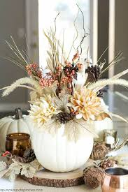 Feather And Flower Centerpieces by Best 25 White Pumpkin Centerpieces Ideas On Pinterest White