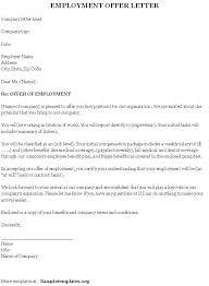 job offer letter template word