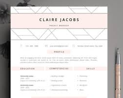 cv template word etsy