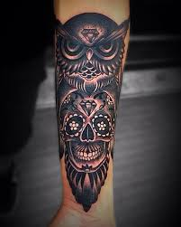 best 25 owl skull tattoos ideas on pinterest sugar skull owl