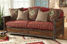 lodge sofas lodge style sofa hand carved western wilderness theme