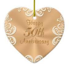 50th wedding anniversary ornament zazzle co uk