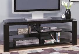 Glass And Metal Sofa Table Glass U0026 Metal Modern Tv Stand W Storage Shelves