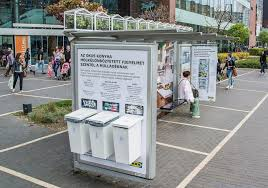 ikea goes green with a bus shelter in budapest jcdecaux hungary