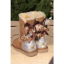 ugg s boots chestnut bling ugg boots swarovski embellished chestnut bai
