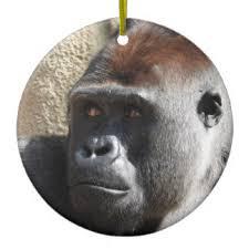 lowland gorilla ornaments keepsake ornaments zazzle