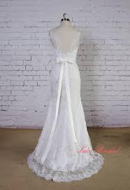 mermaid style wedding dress soft light grey lace wedding gown v back wedding dress mermaid