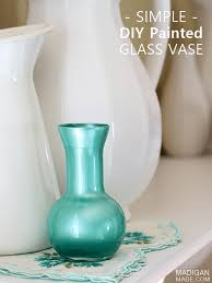 Glass Vase Painting The Simplest Glass Painting Craft Idea Diy Vase Rosyscription
