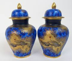 lot 571 a pair of carlton ware paradise bird and tree pattern