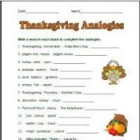 thanksgiving activities worksheets middle school divascuisine