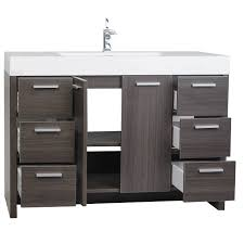 buy 47 25 inch modern bathroom vanity grey oak finish tn ly1200 go