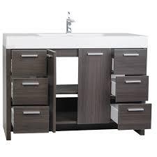designer bathroom vanity buy 47 25 inch modern bathroom vanity grey oak finish tn ly1200 go