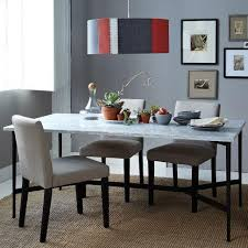 marble and metal dining table match table cast metal base marble top west elm