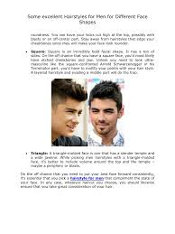 some excellent hairstyles for men for different face shapes pdf