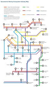 Map Of Sacramento Ca Sacramento Startup Ecosystem Subway Map Work In Progress
