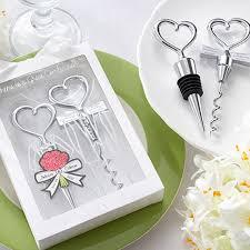 wine stopper wedding favor heart corkscrew wine bottle opener wine stopper wedding