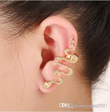 cuff piercing 2018 womens snake ear cuff piercing silver gold plated stud