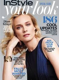 diane kruger models sequins ladylike fashion for feature in instyle