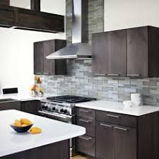 Gray Glass Kitchen Tiles Brown Gray Glass Mosaic Linear - Kitchen modern backsplash