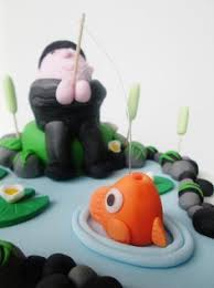 fisherman cake topper fisherman cake fish cake fisherman cake cake and