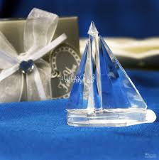 unique wedding favors crystal sailing boat wedding decoration of