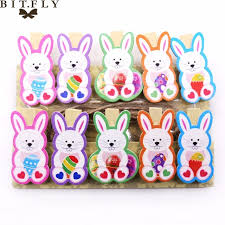 bunny decorations 10pcs set easter decorations wooden diy photo handmade