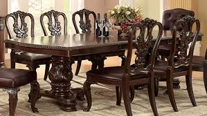 formal dining room set bellagio brown cherry finish formal 7 dining room table set