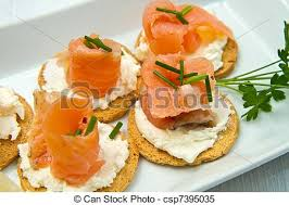 cuisine canapé canape with salmon on white dish stock images search stock photos