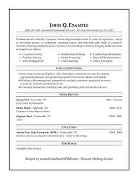 Military Resume Format Resume Examples Customer Service Resume Template And