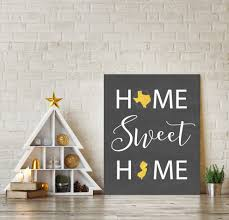 Chalkboard Home Decor Home Sweet Home Home State Print Home State Sign Chalkboard Art