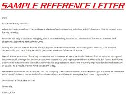 Reference Sample For Resume Reference Letter Example