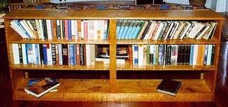sofa bookcase with tiger maple vermont furniture works