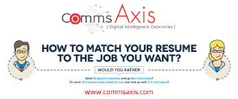 Send Resume To Jobs by Tailor Your Resume To Land That Job Infographic Comms Axis