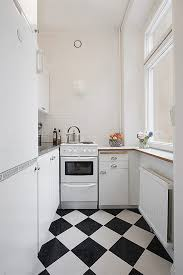 alluring 80 black and white tile kitchen design decoration of