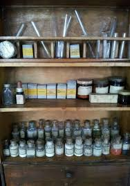 vintage chemistry cupboard with chemicals test tubes u0026 bunsen