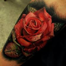 3d red rose tattoo picture 3drose tattoo rose pinterest rose