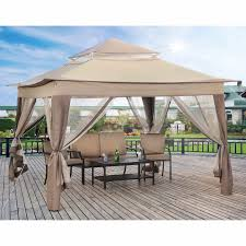 patio gazebo canopy portable patio gazebo outdoor furniture garden waterproof sun