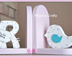 personalized bookends baby pink bookends etsy