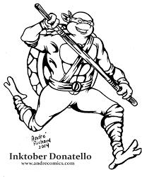 inktober teenage mutant ninja turtles andrecomics