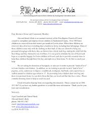 sample church donation letter donation request letter word doc