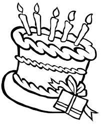 happy birthday cake present coloring happy birthday