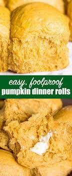 pumpkin dinner rolls soft fluffy roll recipe for dinner
