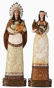 thanksgiving pilgrim statues thanksgiving figurines indian with pilgrim search