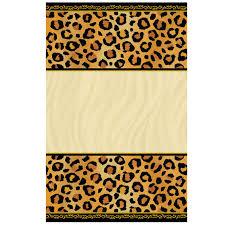 leopard print invitations printable free cakepins com deadly