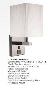 Brushed Nickel Headboard 72032r X5x6 10d Headboard Lamp Ashley Lighting Excess