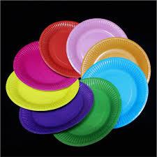 wedding party plates 10pcs lot 18cm festival disposable plate for party candy color