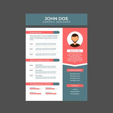 graphic design resume graphic designer resume a4 size free vector stock