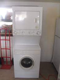 Home Depot Tiny House For Sale by Over Under Washer Dryer Washer Ge Dcvh480ekww Lifestyle View