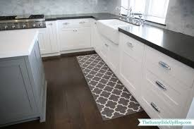 Best Rug For Kitchen by Kitchen Best White And Grey Moroccan Trellis Kitchen Rug For