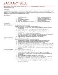 Sample Resume Laborer by Resume Samples Construction Trades And Labor Damn Good Throughout